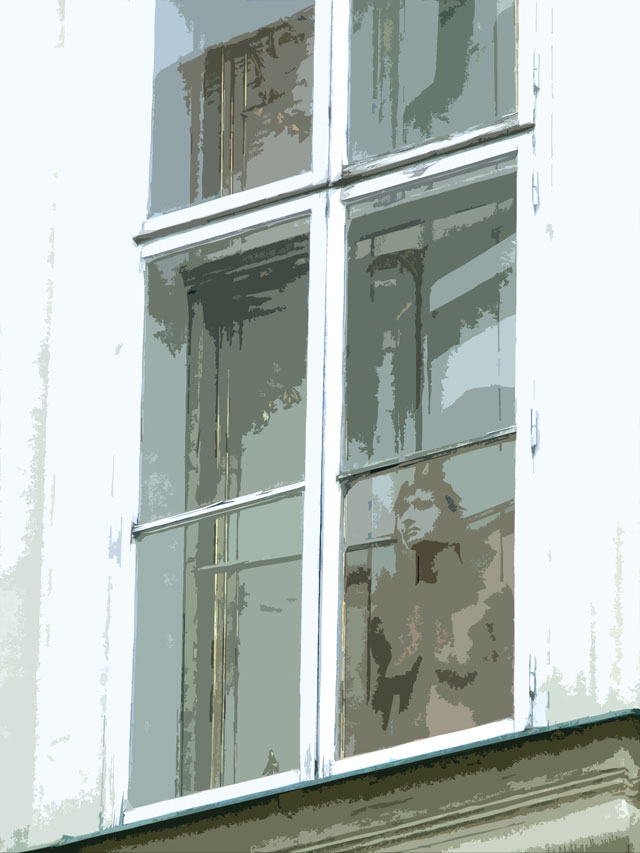 Akt im Prager Fenster
